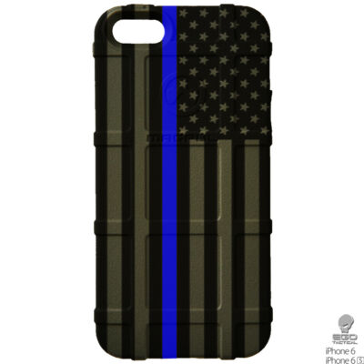 Magpul Field Case for the iPhone 6,6s,or 6 PLUS. Custom Subdued Flag Police