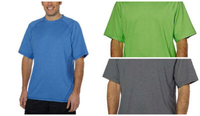NEW MENS KIRKLAND ACTIVE TSHIRT TEE POLY & SPANDEX Variety of Colors & Sizes