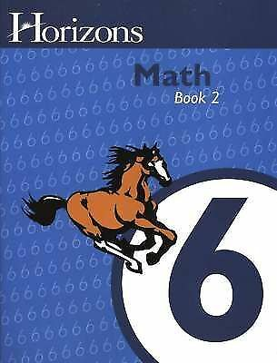 AOP Horizons 6th Grade MATH 6 Homeschooling MATHMATICS Book ~ WORKBOOK 2