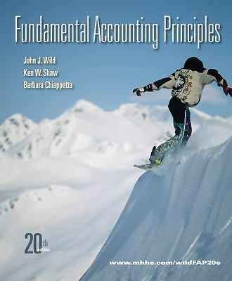 Fundamental Accounting Principles, 20th Edition