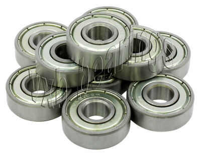 "Lot of 10 Router Cutter Bearings 3/16"" x 1/2"" inch Ball Bearing Bore 0.188"" ID"
