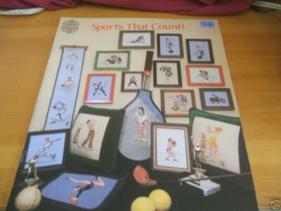 SPORTS THAT COUNT COUNTED CROSS STITCH GLORIA & PAT