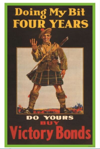 Doing My Bit Four Years - WWI 1918 Canadian Vintage Art Print - NEW POSTER