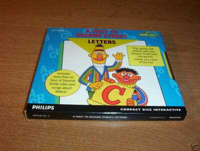 VISIT TO SESAME STREET LETTERS PHILIPS CD-I INTERACTIVE