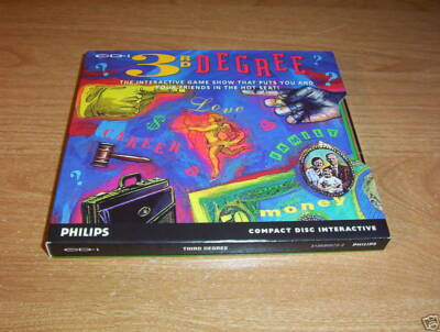 3RD DEGREE VIDEO GAME SHOW PHILIPS CD-I INTERACTIVE TRIVIA GAME