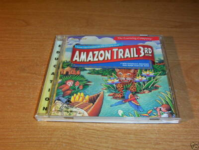 AMAZON TRAIL 3rd ED LEARNING COMPANY PC MAC CD ROM WILD RAINFOREST ADVENTURE