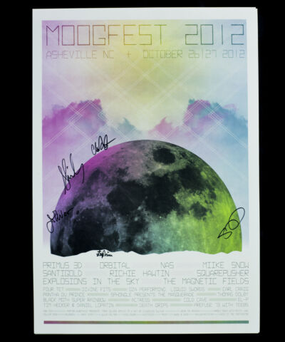 Official Moogfest 2012 poster signed by Magnetic Fields! moog, autograph, indie