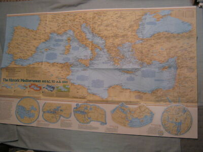THE HISTORIC MEDITERRANEAN + THE SEAFLOOR MAP National Geographic December 1982