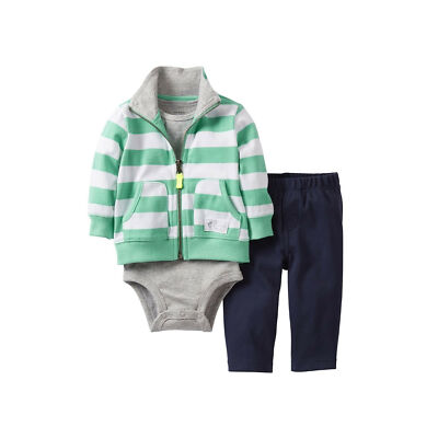 NWT Carter's Infant Boys Carter's® Striped 3-pc. Cardigan Set - Size 18 Months