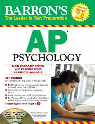 Barron's AP Psychology with CD-ROM, 5th Edition (Barron's AP Psychology Exam (W/