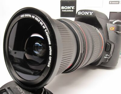 Ultra Wide Angle Macro Fisheye lens for Sony Alpha A7 A77 A65 A58 w18-135 16-105