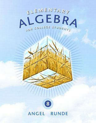Elementary Algebra for College Students (8th Edition), Angel, Allen R., Good Boo