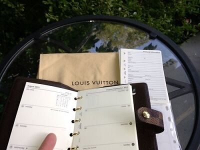 2015 REFILL CALENDAR FITS LOUIS VUITTON AGENDA PM COVER ~ Week on Two Pages