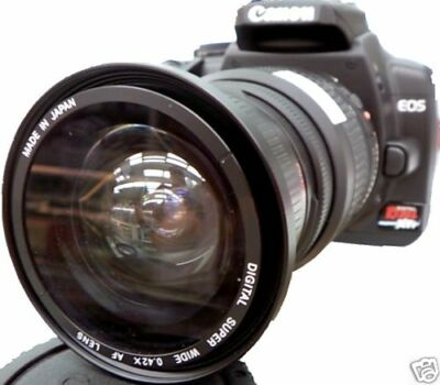 Wide Angle Fisheye Macro lens for Canon EOS Digital Rebel sl1 t5i t4i t3i t3 t2