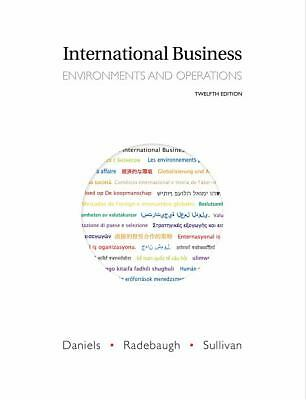International Business (12th Edition), Sullivan, Daniel, Radebaugh, Lee, Daniels