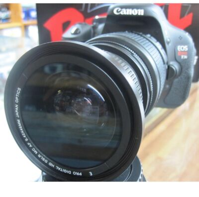 fisheye for Canon Eos Digital Rebel T5i T2i T3 T3i XT XTi XSi 1100d 3 lens kit