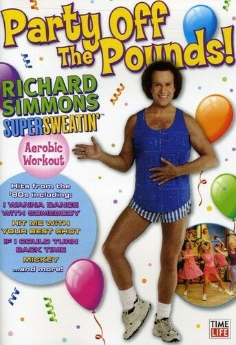 Supersweatin': Party Off the Pounds, Very Good DVD, Richard Simmons,