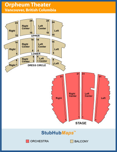 2 Tickets Ryan Adams Orpheum Orchestra Right Center Row 7 Vancouver 10/07/14