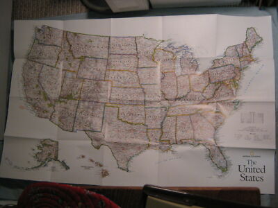 LARGE UNITED STATES WALL MAP + HISTORY National Geographic October 2006 MINT