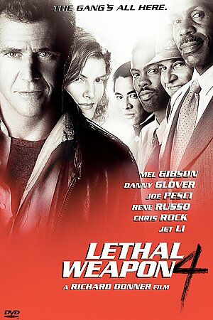 Lethal Weapon 4 (DVD, 2009) WS Mel Gibson Danny Glover Renee Russo Jet Li