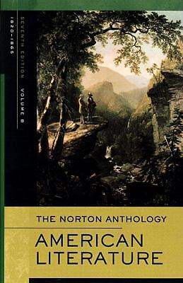 The Norton Anthology of American Literature: (B) -  - Good Condition