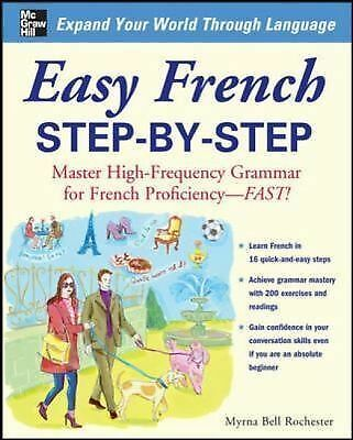 Easy French Step-by-Step, Rochester, Myrna Bell, Good Book