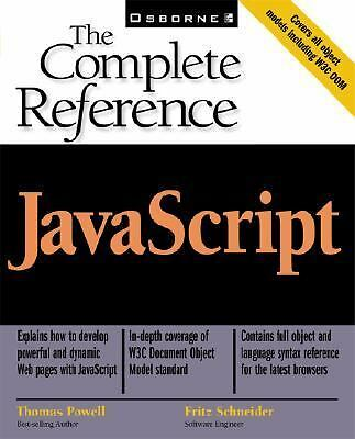 JavaScript: The Complete Reference,Schneider, Fritz, Powell, Thomas A.,  Accepta