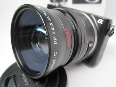 Ultra Wide Angle Macro Lens for Sony Nex 6 5t 3n 3 5 7 for 16-50mm 18-55mm 16mm