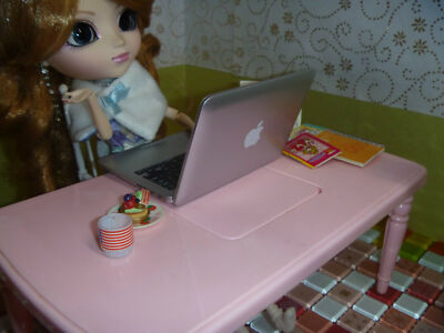 Silver Mc Airbook BJD Notebook / Computer ONLY 1/4  to 1/6 scale OOAK barbie