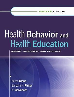 Health Behavior and Health Education: Theory, Research, and Practice,,  Acceptab