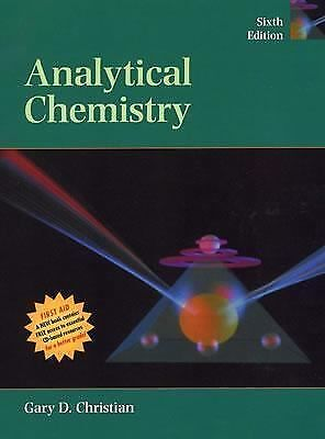 Analytical Chemistry,Christian, Gary D.,  Good Book