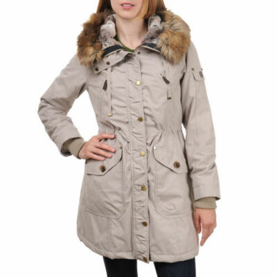 NEW 1 Madison Expedition Womens STONE  Coat Jacket & Faux Fur Hood U PICK SIZE