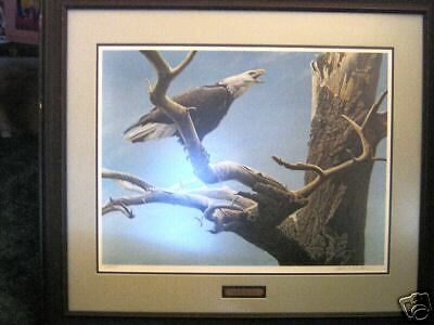 ROBERT BATEMAN PRINT /CALL OF THE WILD / SIGNED / RARE TO FINE  VINTAGE