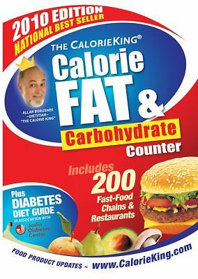 THE CALORIE KING CALORIE FAT & CORBOHYDRATE COUNTER 2010 EDITION SC Mint