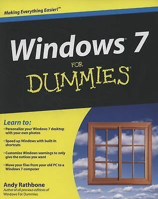 Windows 7 For Dummies,Rathbone, Andy,  Acceptable  Book