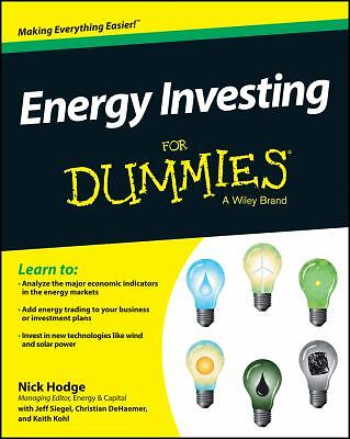 Energy Investing For Dummies - Hodge, Nick - Very Good Condition