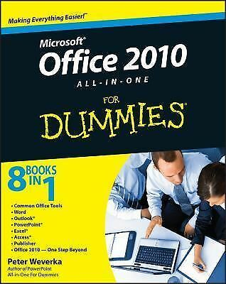 Office 2010 All-in-One For Dummies, Weverka, Peter, Good Book