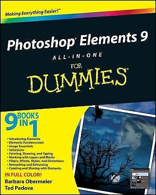 Photoshop Elements 9 All-in-One For Dummies,Padova, Ted, Obermeier, Barbara,  Ac