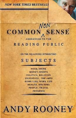 Common Nonsense,Andy Rooney,  Good Book