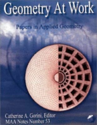 Geometry at Work (Mathematical Association of America Notes),,  Acceptable  Book