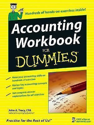 Accounting Workbook For Dummies - Tracy, John A. - Good Condition