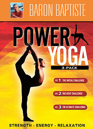 Baron Baptiste's Power Yoga 3-Pack- DVD - New Condition - ,