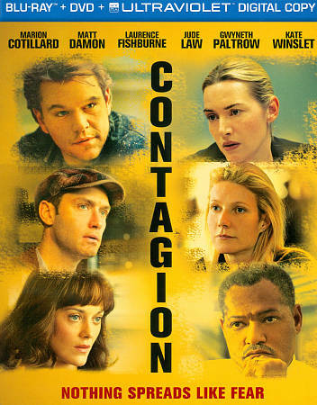 Contagion (Blu-ray/DVD, 2012, 2-Disc Set, )