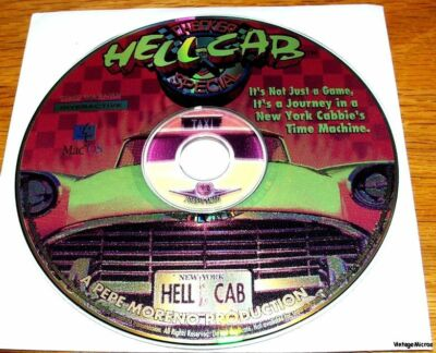Mac 1993 Interactive Game CD - HELL CAB