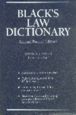Black's Law Dictionary, Second Pocket Edition by Bryan A. Garner