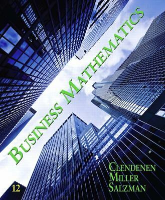 Business Mathematics (12th Edition), Miller, Charles D., Salzman, Stanley, Clend