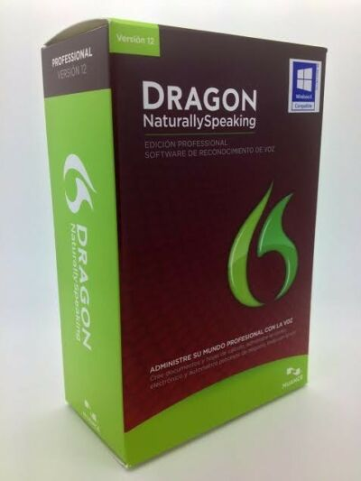 NEW Nuance Dragon Naturally Speaking Professional 12 HEADSET ENGLISH and SPANISH