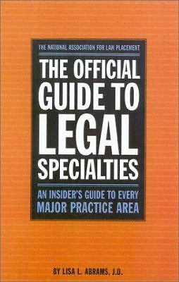 The Official Guide to Legal Specialties - National Association for Law Placement