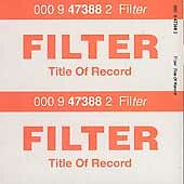 Title of Record by Filter (CD, Aug-1999, Reprise)