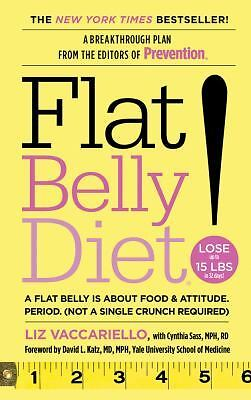 Flat Belly Diet!, Sass, Cynthia, Vaccariello, Liz, Good Book
